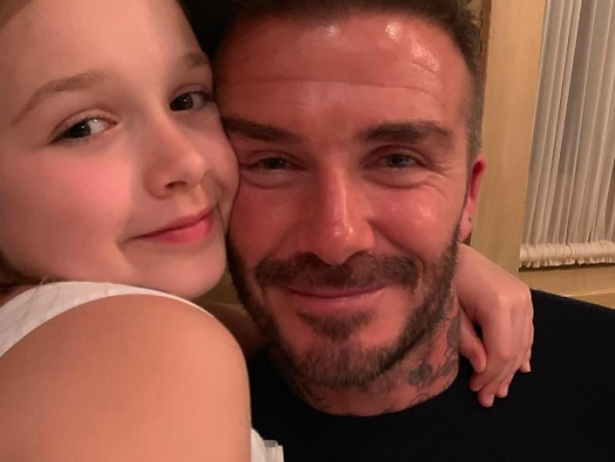 David Beckham całuje w usta dziewięcioletnią córkę