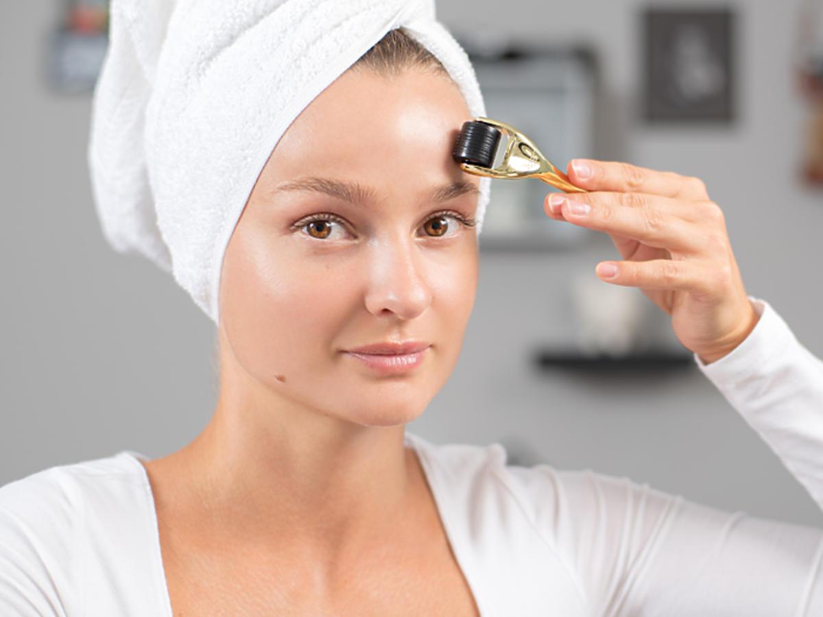 derma roller efekty działanie derma roller w domu zabieg krok po kroku