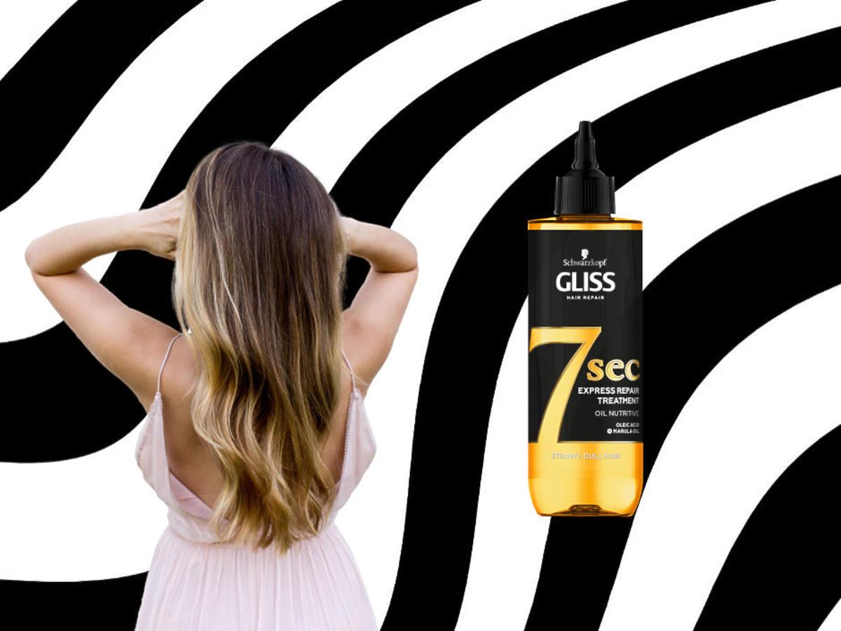 długie, zdrowe włosy - kuracja do włosów SCHWARZKOPF GLISS 7 sec Oil Nutritive