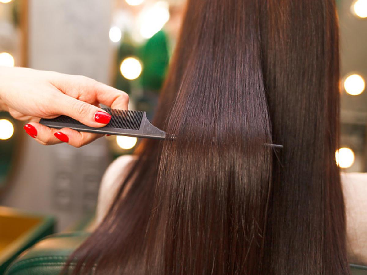 efekt po laminowaniu włosów żelatyną