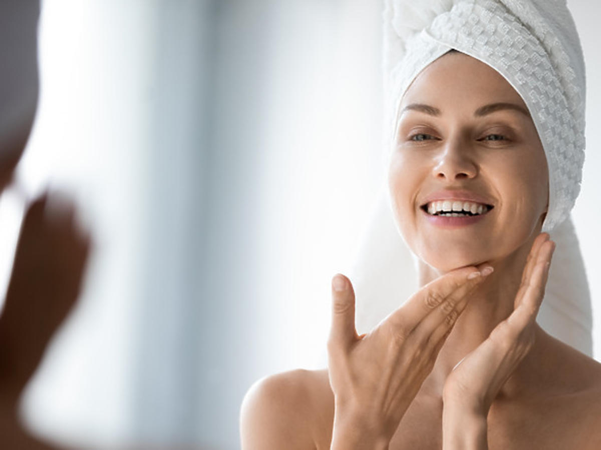 Efekt po zastosowaniu żelu do mycia twarzy