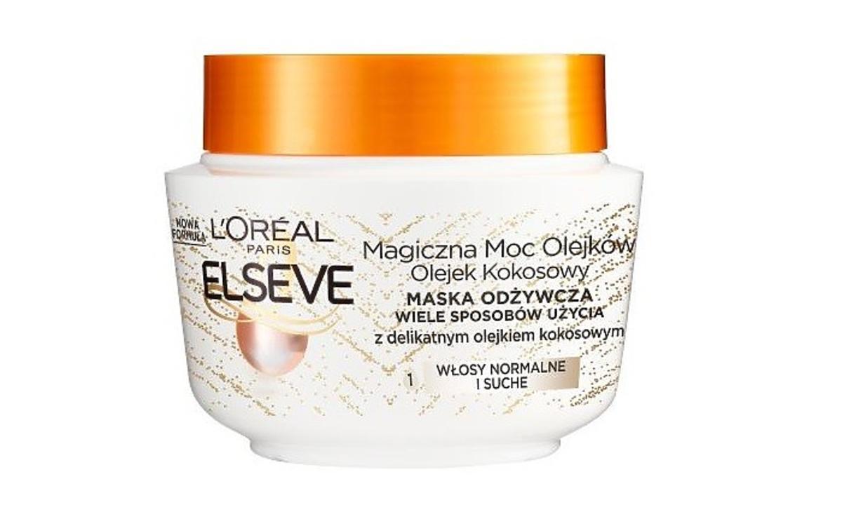 Elseve magiczna moc olejków maska do włosów z olejem kokosowym na promocji w Rossmannie