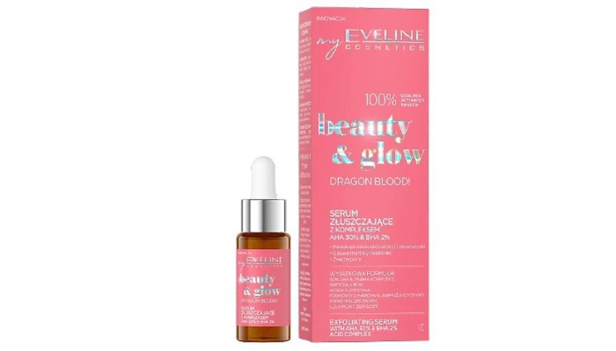 Eveline, Beauty & Glow, Serum złuszczające z kompleksem AHA 30% & BHA 2% Dragon Blood!