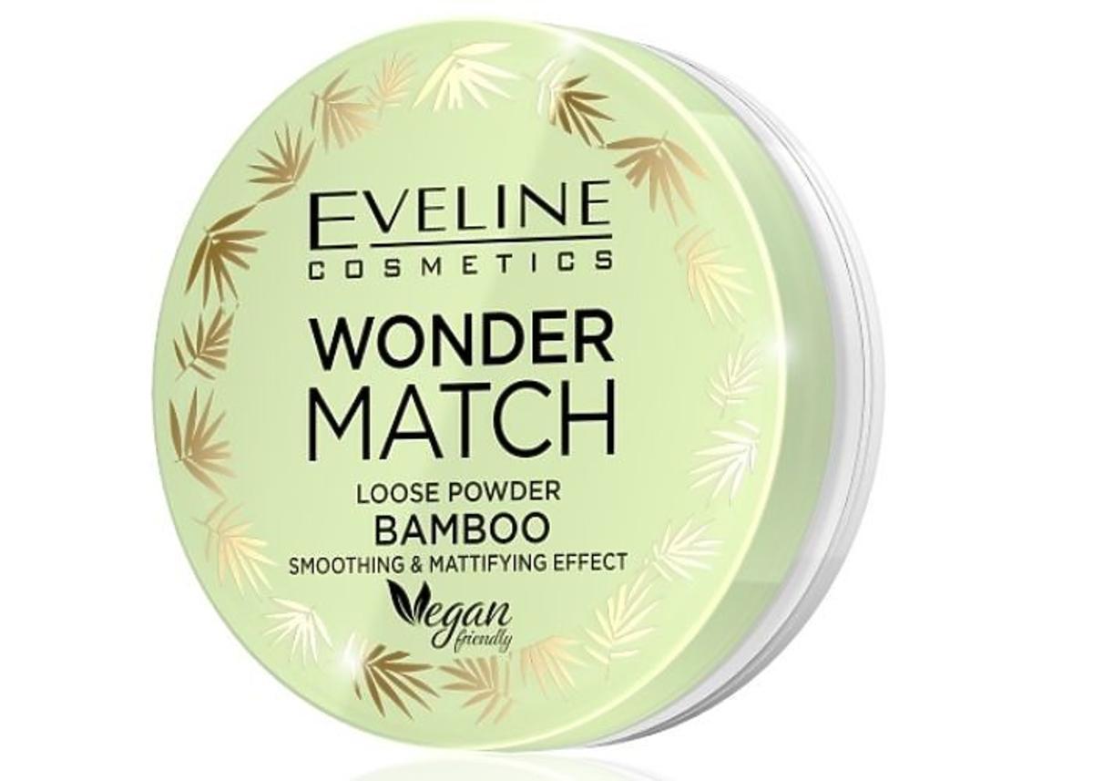 Eveline, Wonder Match, Bamboo Loose Powder (Bambusowy puder sypki wygładzająco-matujący)