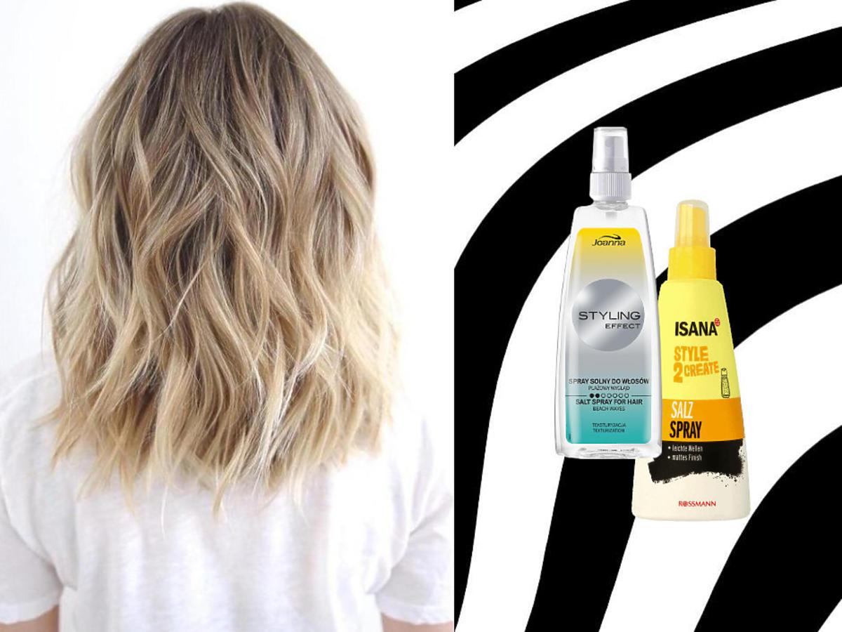 fale na włosach - spray solny
