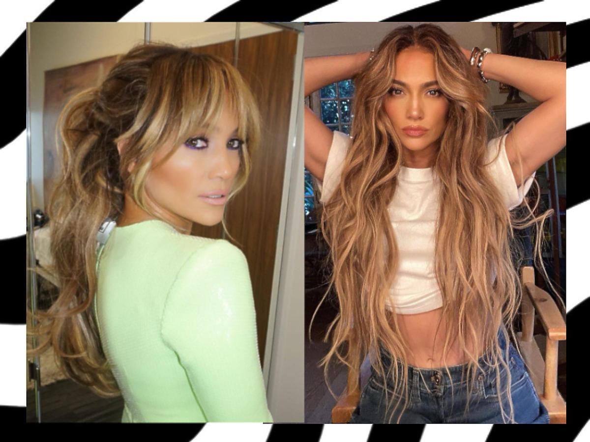 fryzury z grzywką 2021 - Jennifer Lopez