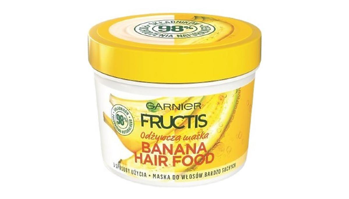 Garnier, Fructis, Banana Hair Food, odżywcza maska do włosów bardzo suchych z gazetki Rossmanna