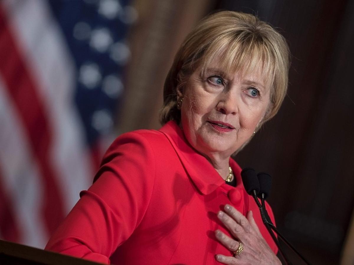 Hillary Clinton na mównicy