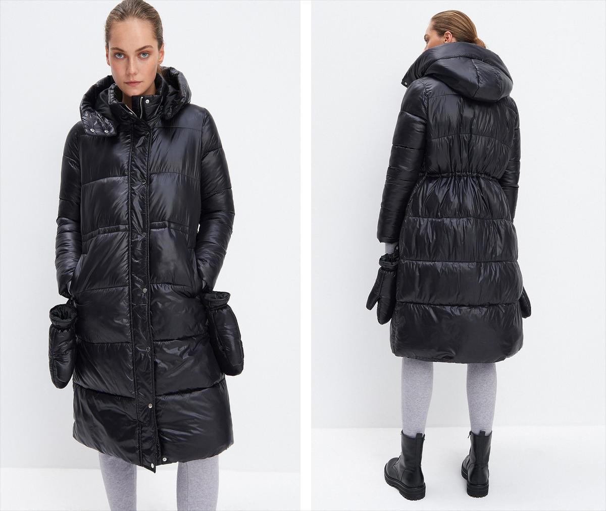 Iga Krefft w modnym płaszczu z Mohito. Jest idealny na zimę, a teraz kupicie go dużo taniej