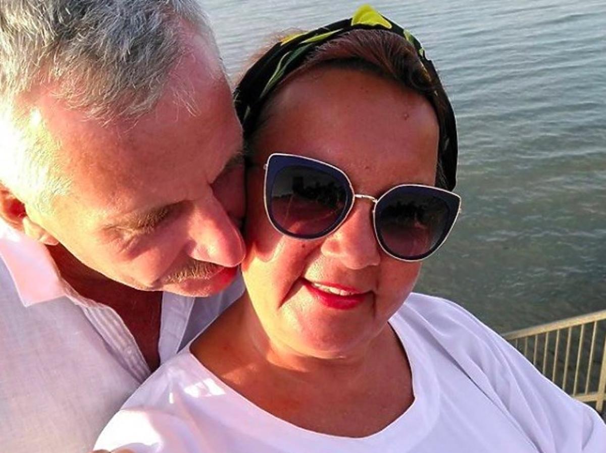 Iza Zeiske z Gogglebox z mężem