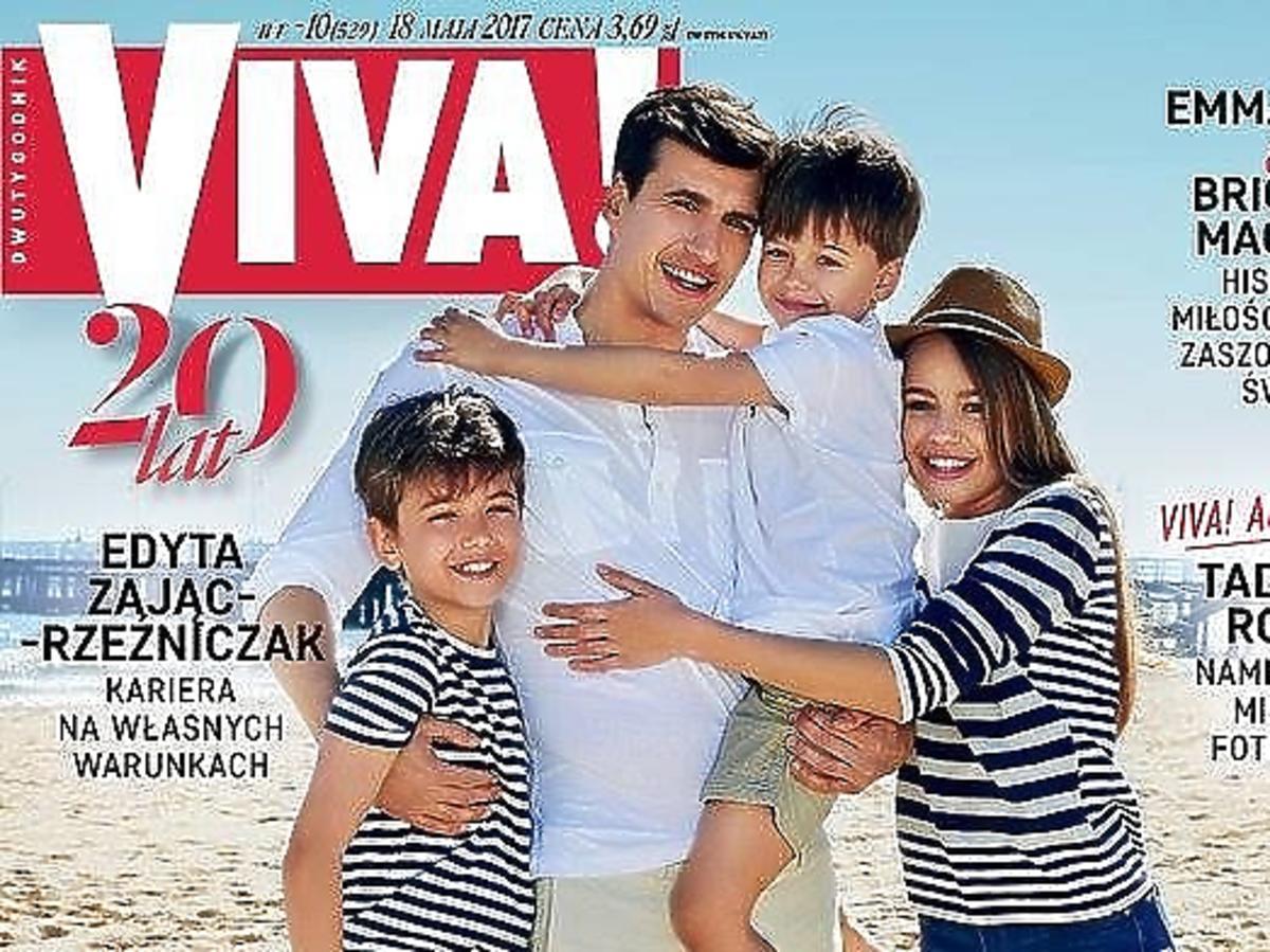Jarosław Bieniuk z dziećmi na okładce magazynu Viva
