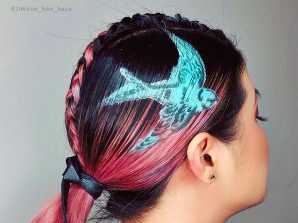 jaskółka na włosach