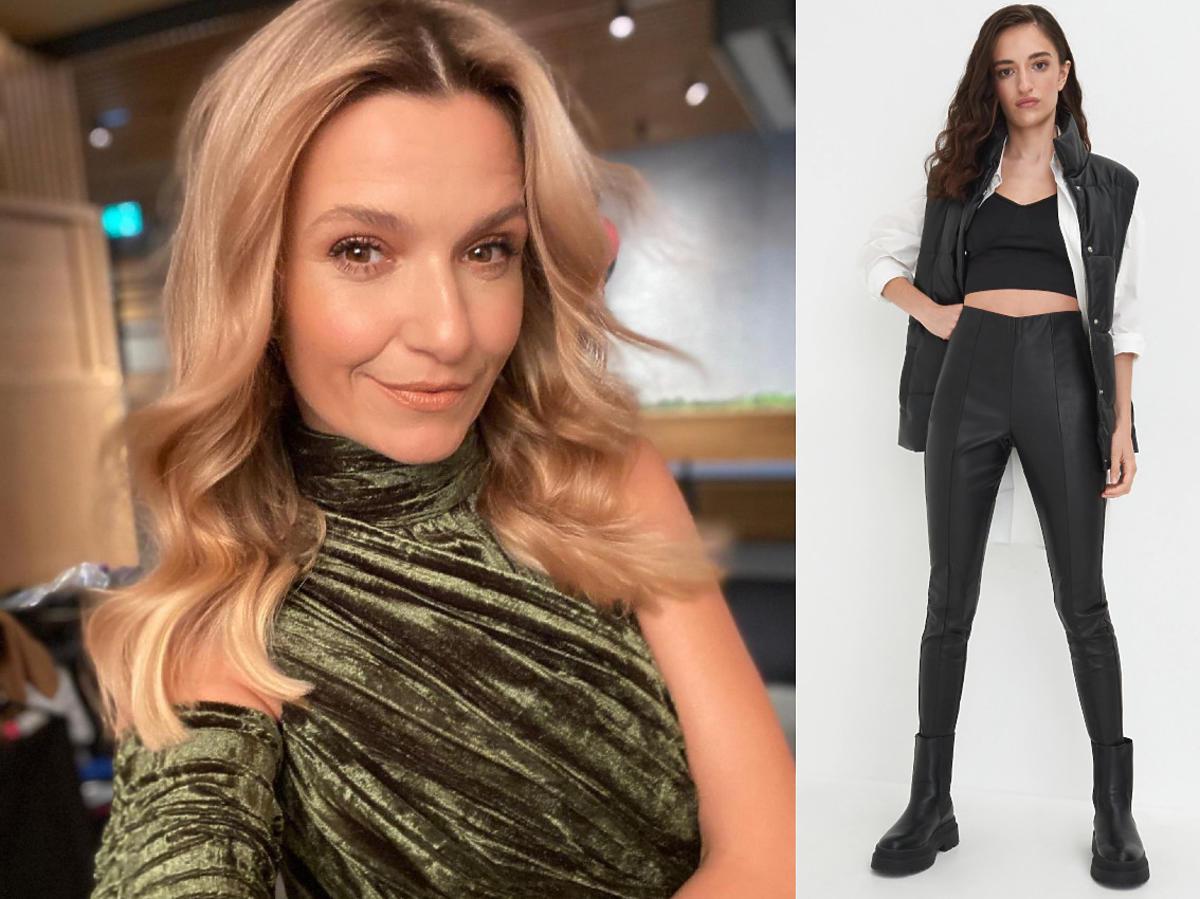 Joanna Koroniewska skórzane spodnie