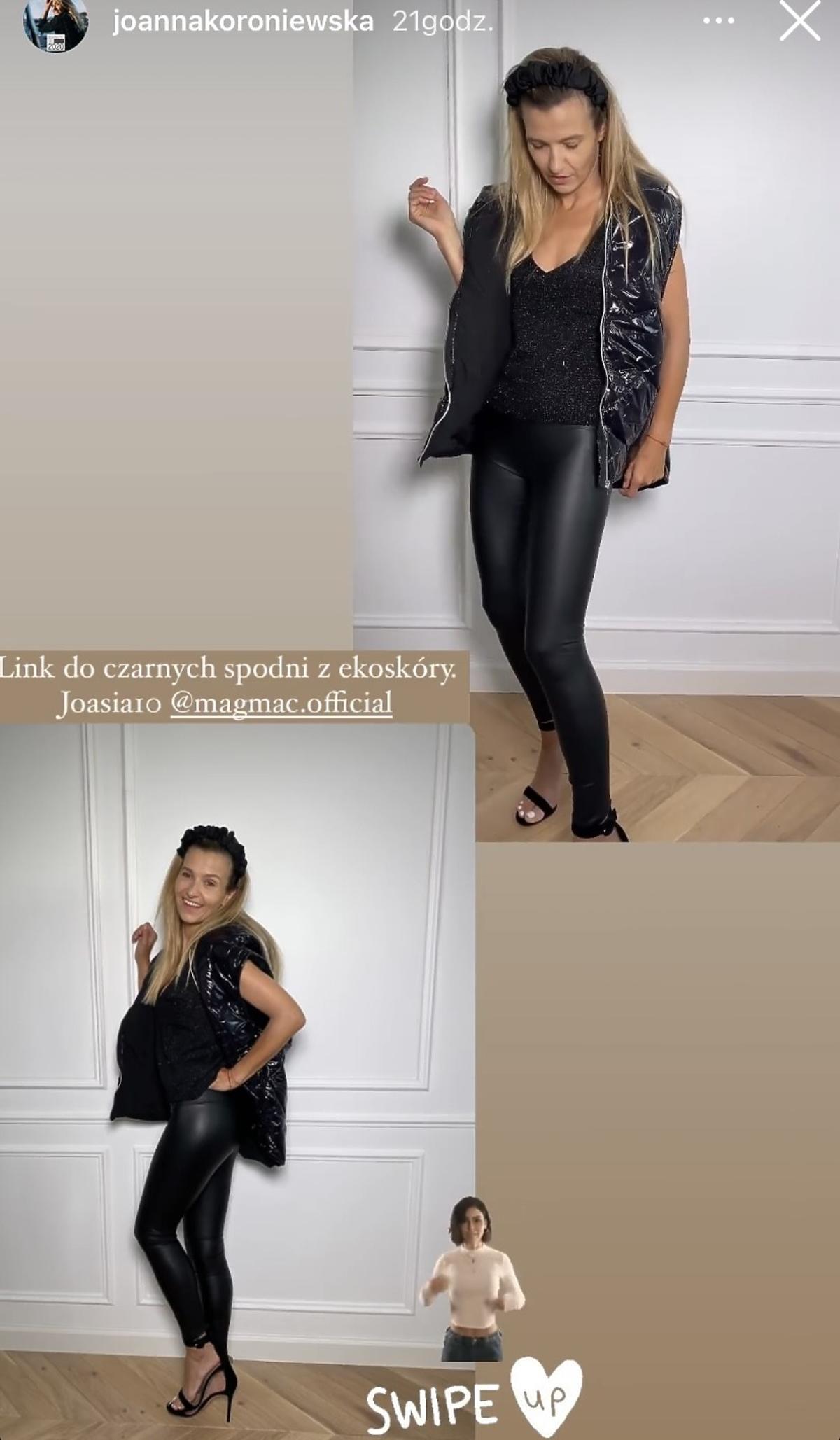 Joanna Koroniewska w modnej pikowanej kamizelce na jesień