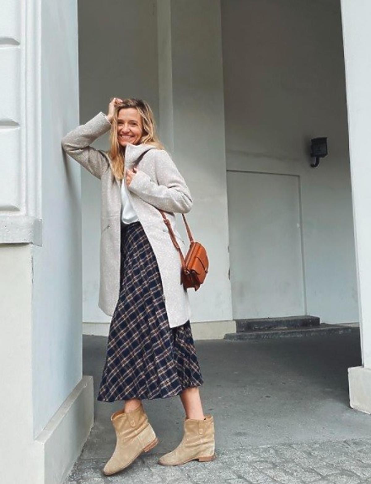 joanna koroniewska w spódnicy z Greenpoint