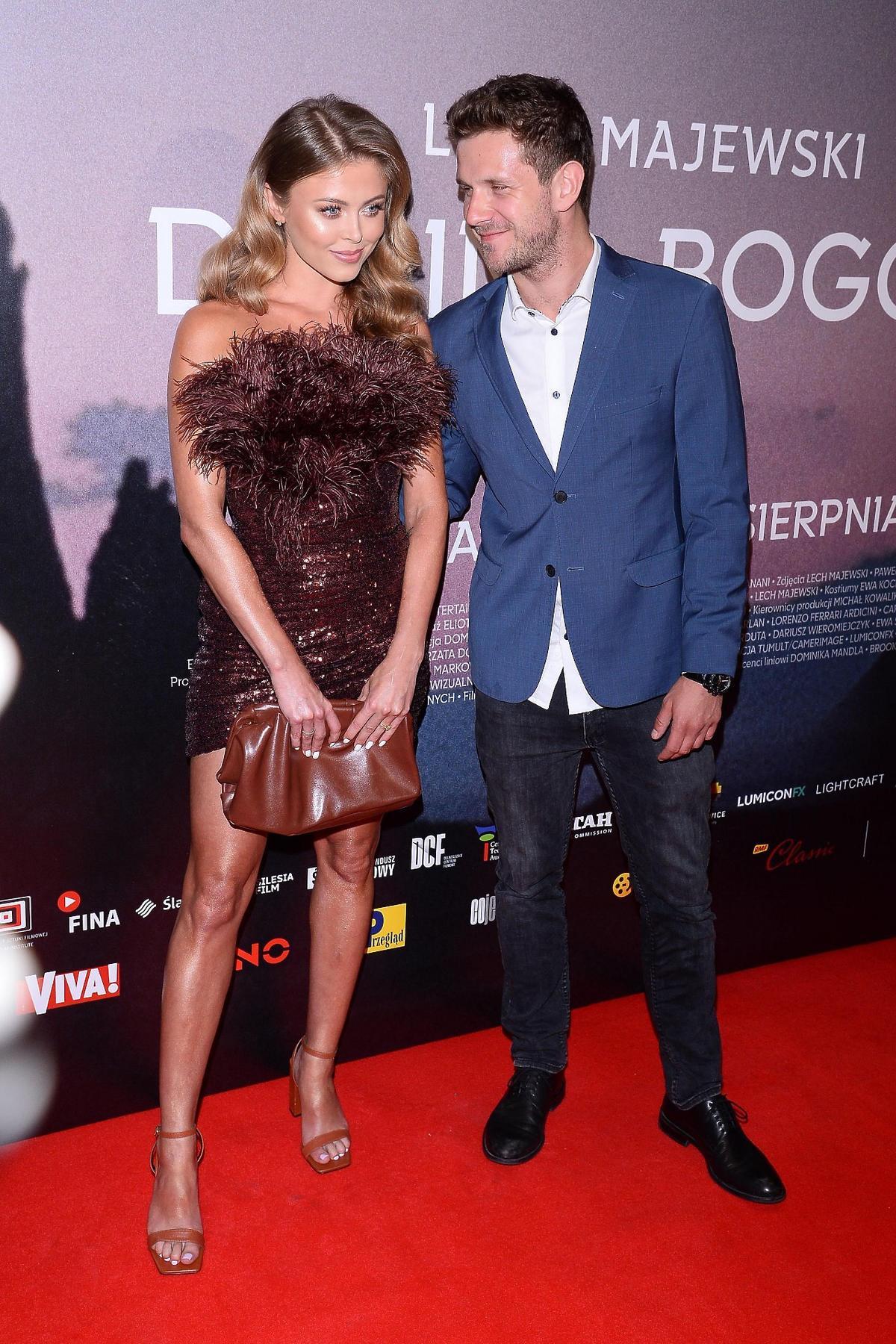 "Joanna Opozda i Antek Królikowski na premierze filmu ""Dolina Bogów"""