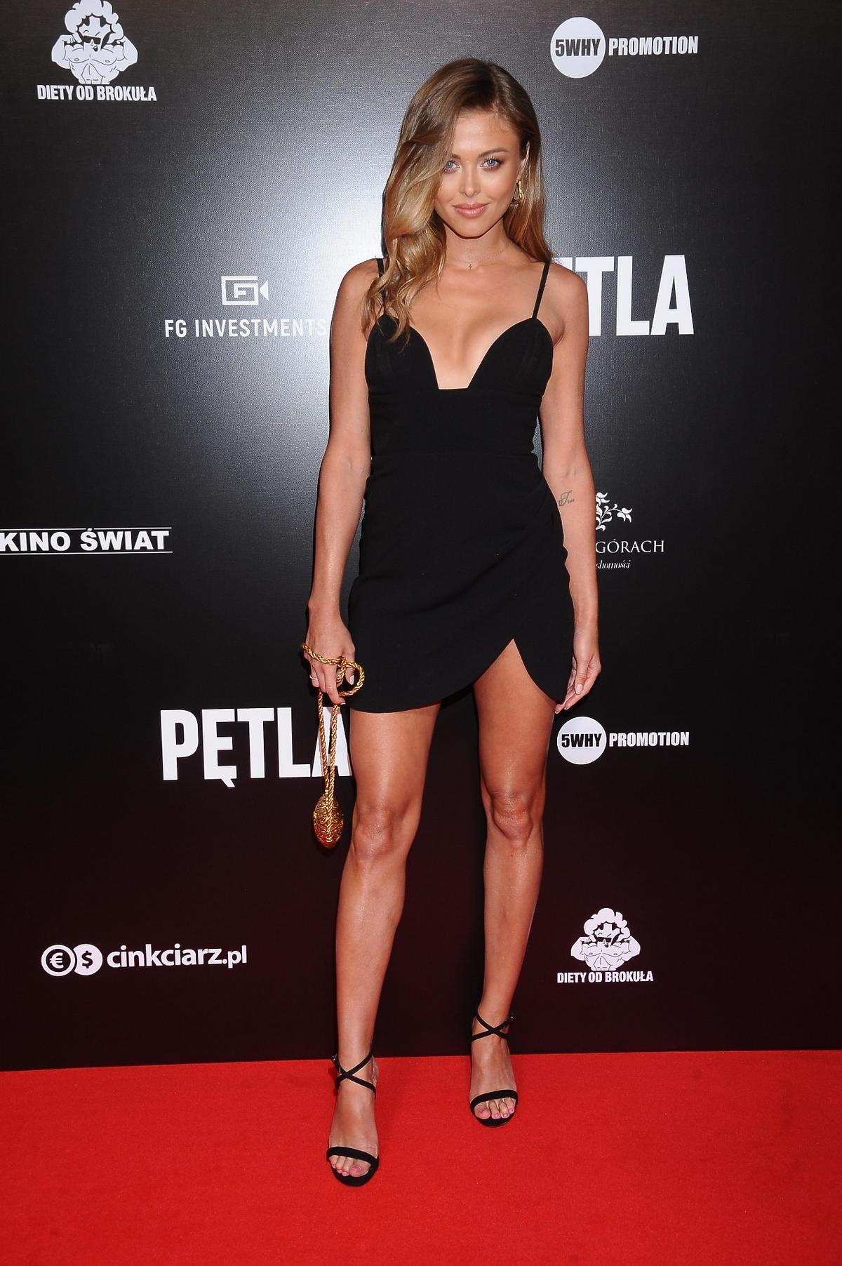"""Joanna Opozda na premierze filmu """"Pętla"""""""