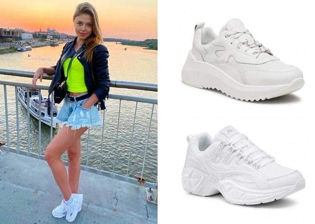 Joanna Opozda w sneakersach białych