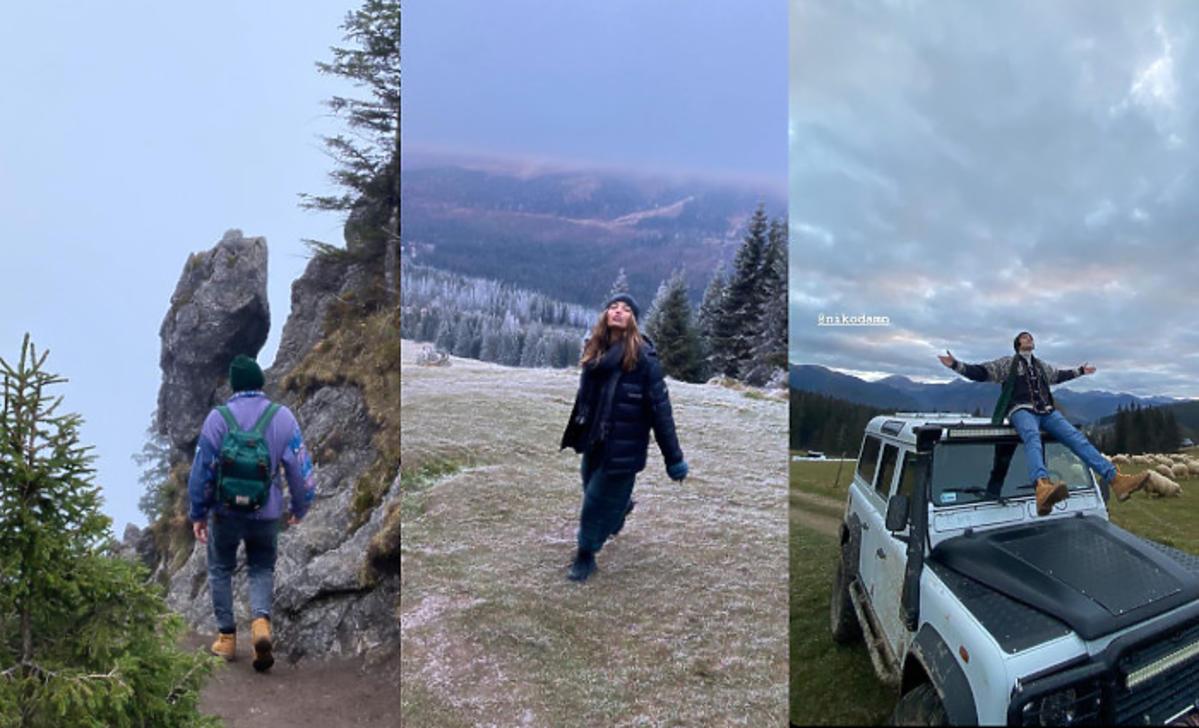 Julia Wieniawa i Nikodem Rozbicki w górach