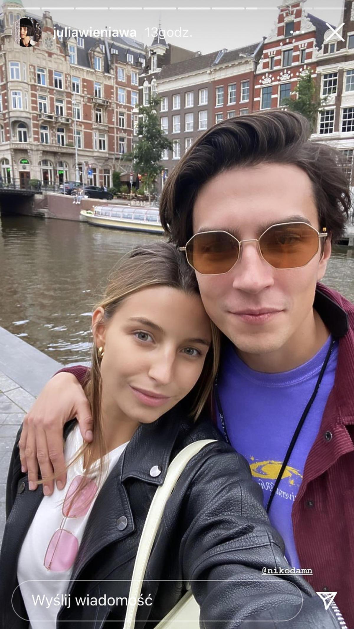 Julia Wieniawa i Nikodem Rozbicki zwiedzają Amsterdam