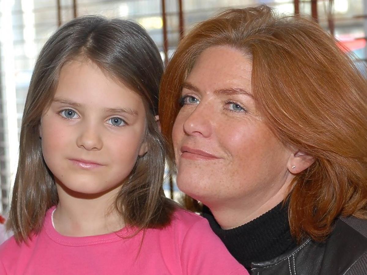 Katarzyna Dowbor z córką Marysią