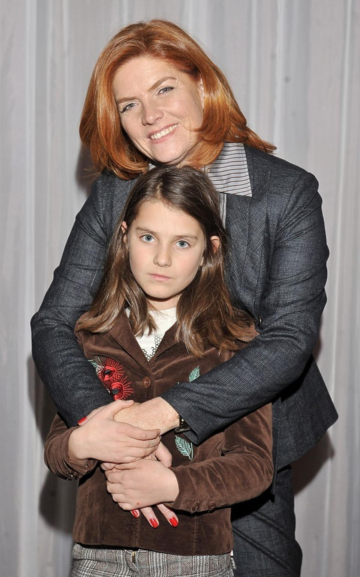 katarzyna dowbor z córką Marysią, kiedy była dzieckiem