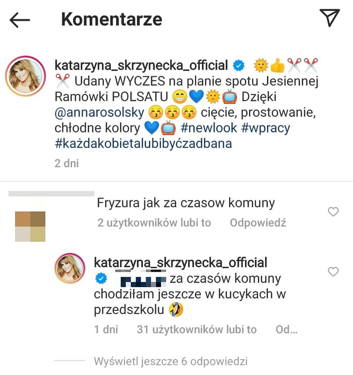 Katarzyna Skrzynecka odpowiada fance