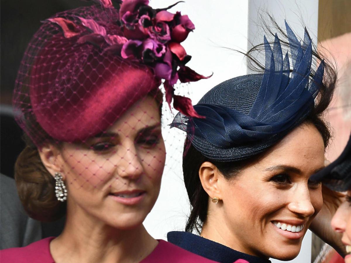Kate Middleton i Meghan Markle w pałacu królewskim