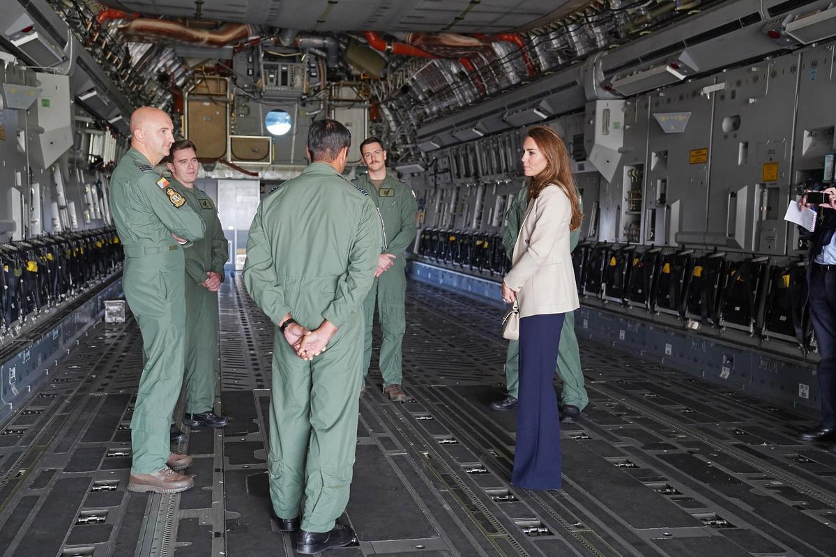 Kate Middleton w bazie RAF Brize Norton
