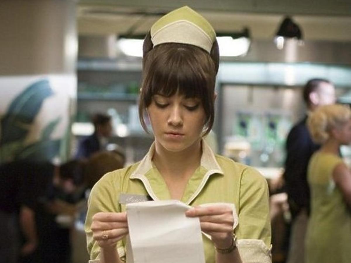 kelnerka w fartuszku
