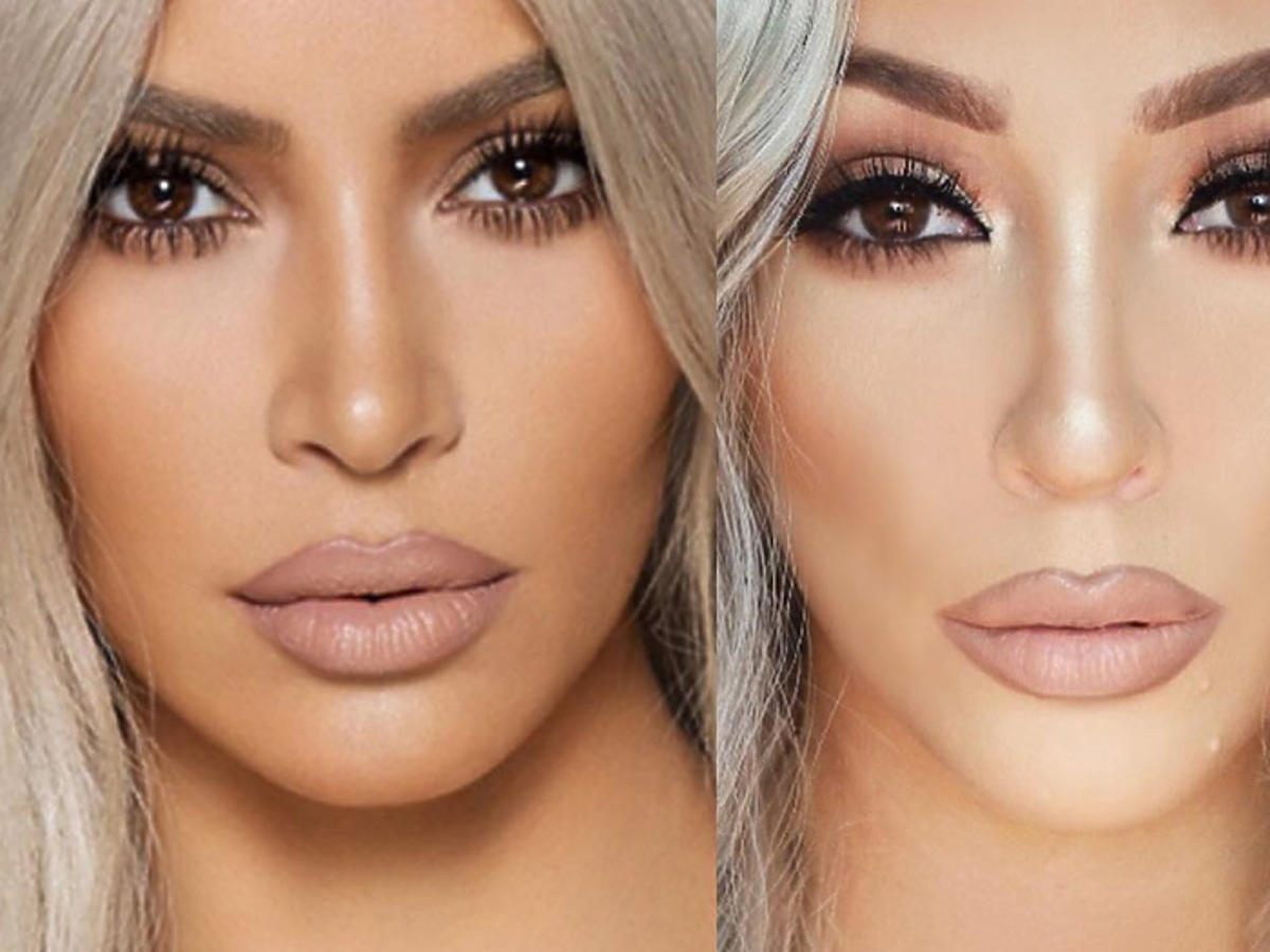 Kim Kardashian makijaż