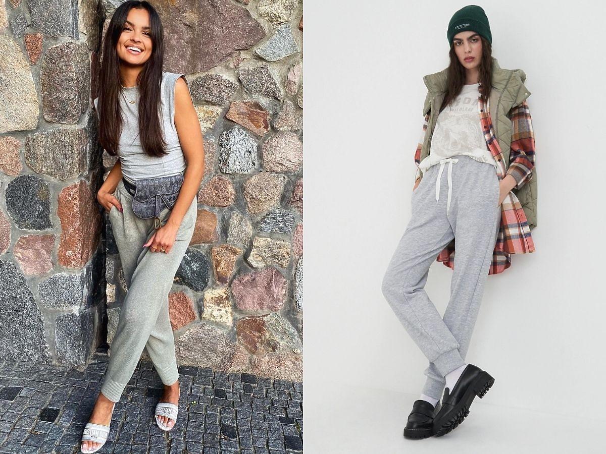 Klaudia El Dursi w szarych spodniach dresowych