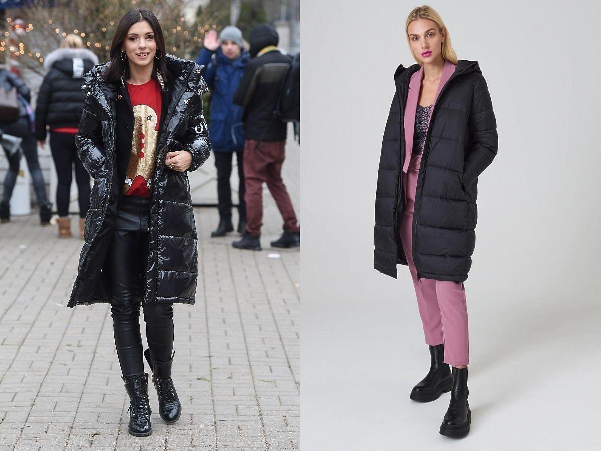 Klaudia Halejcio i najmodniejszy płaszcz damski pikowany