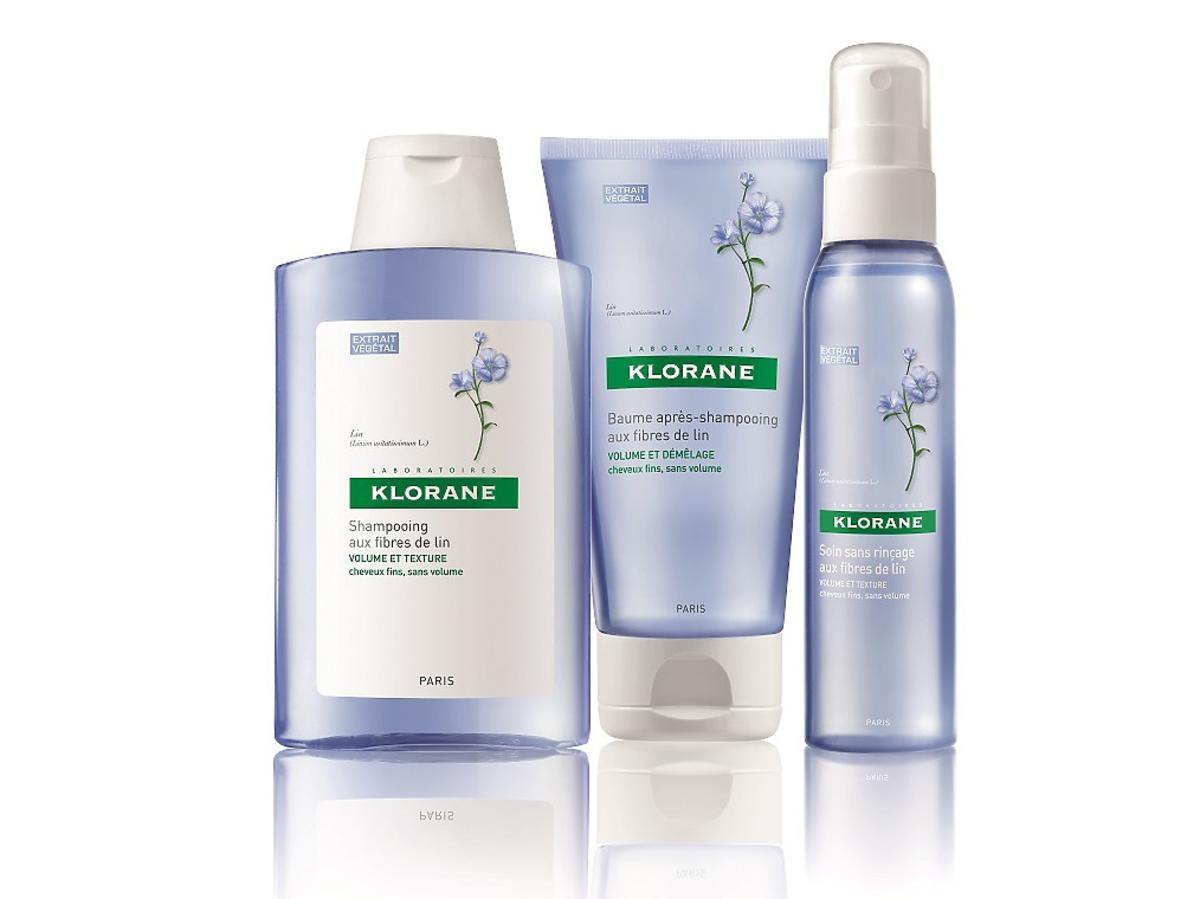 Klorane na bazie lnu, wyciąg z lnu a włosy, kosmetyki zwiekszająca objętość włosów, szampon zwiększający objętość, klorane