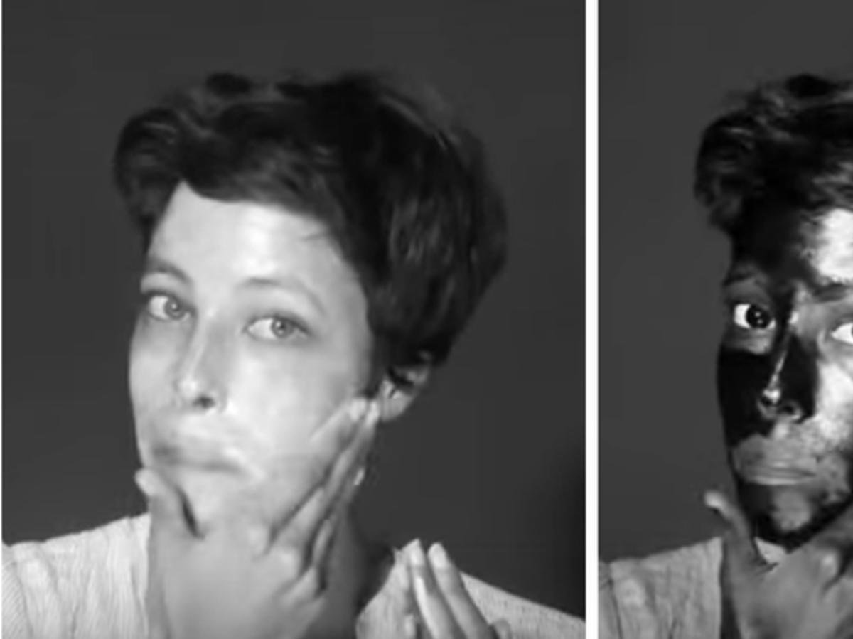 kobieta z filtrem przeciwsłonecznym w zwykłym obiektywie i soczewce uv