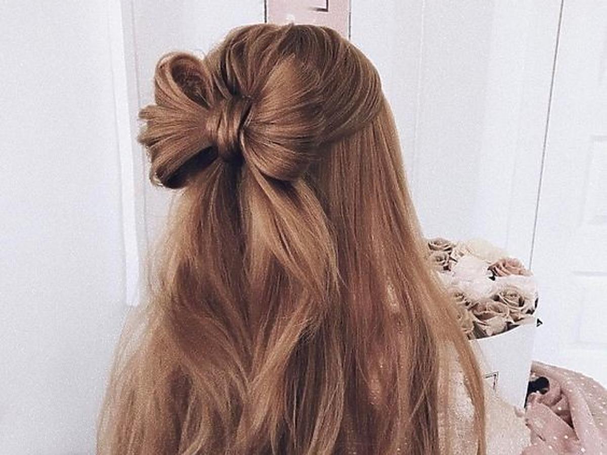 kokarda z włosów
