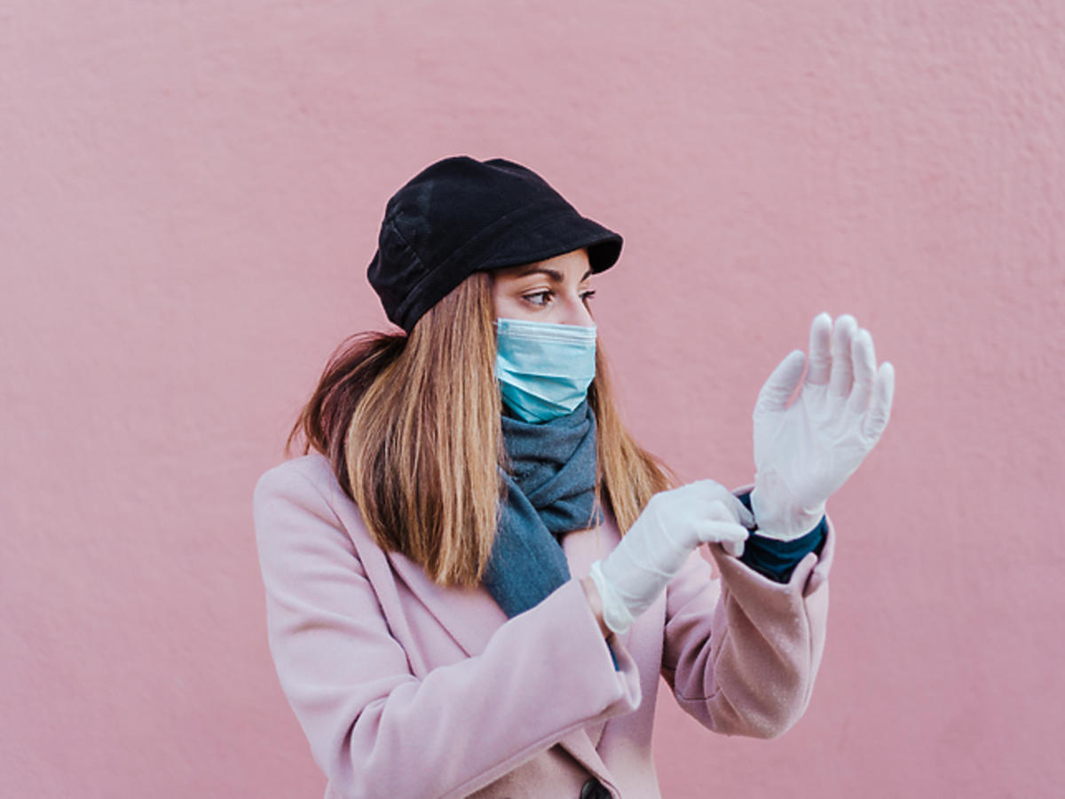 Koronawirus - rękawiczki jednorazowe