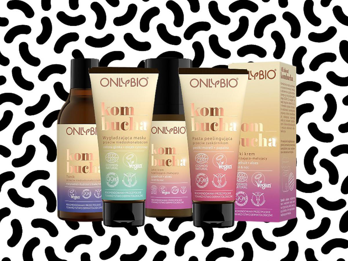 Kosmetyki OnlyBio z kombuchą przeciw maskne