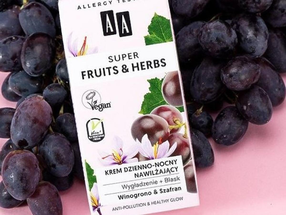 krem nawilżający z AA z winogronem i szafranem