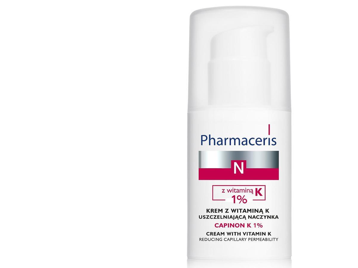 Krem z witaminą K uszczelniającą naczynka CAPINON K 1% Pharmaceris N