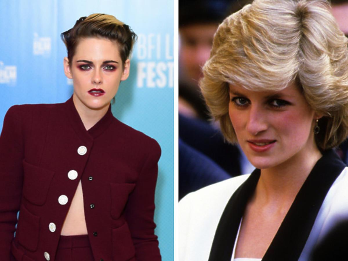 """Kristen Stewart jako księżna Diana? Gwiazda sagi """"Zmierzch"""" jest nie do poznania. Zobaczcie pierwsze zdjęcia z planu"""