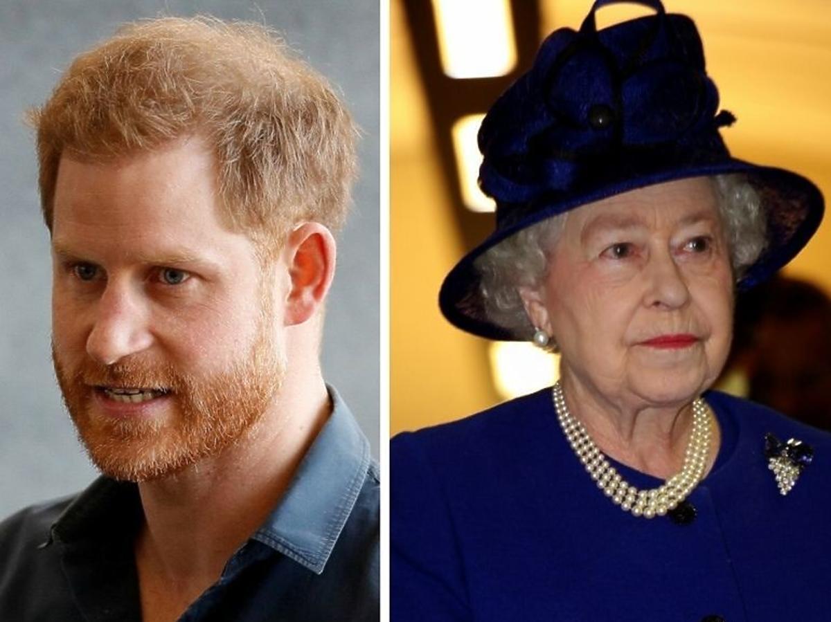 Książę Harry i Królowa Elżbieta
