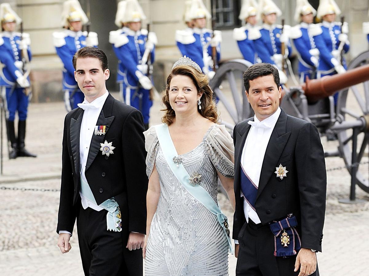 książę Philippos z rodzeństwem