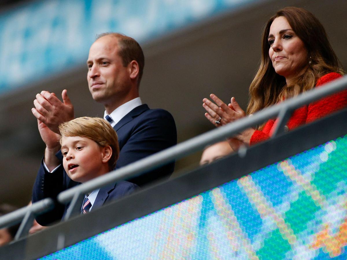 książę William, księżna Kate i George na meczu Anglia-Niemcy Euro 2020 (2021)