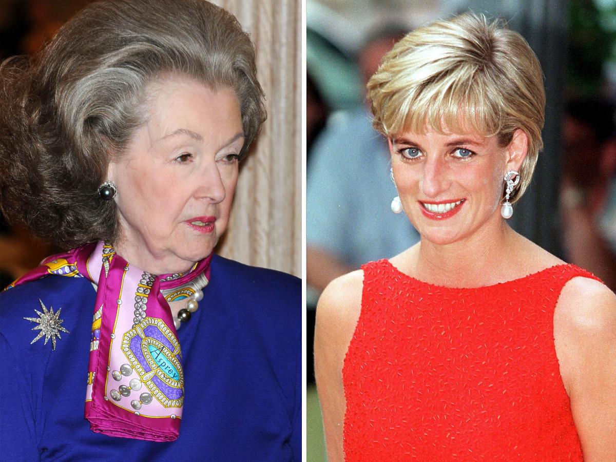 Księżna Diana tak nienawidziła swojej macochy, że zepchnęła ją ze schodów