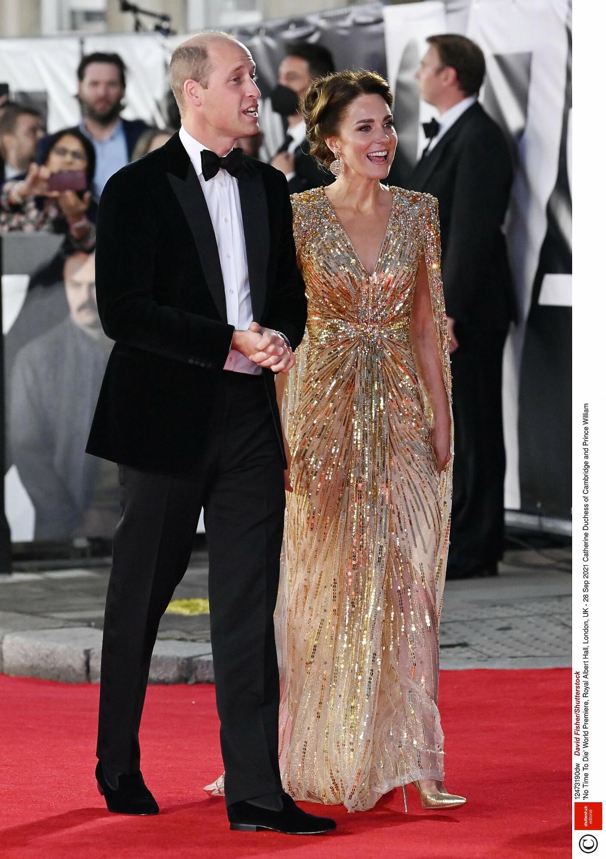 Księżna Kate i książę William na premierze Nie czas umierać