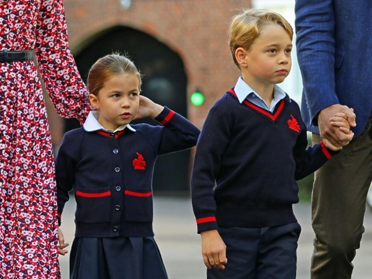 Księżniczka Charlotte, Kate Middleton, książę William, książę George