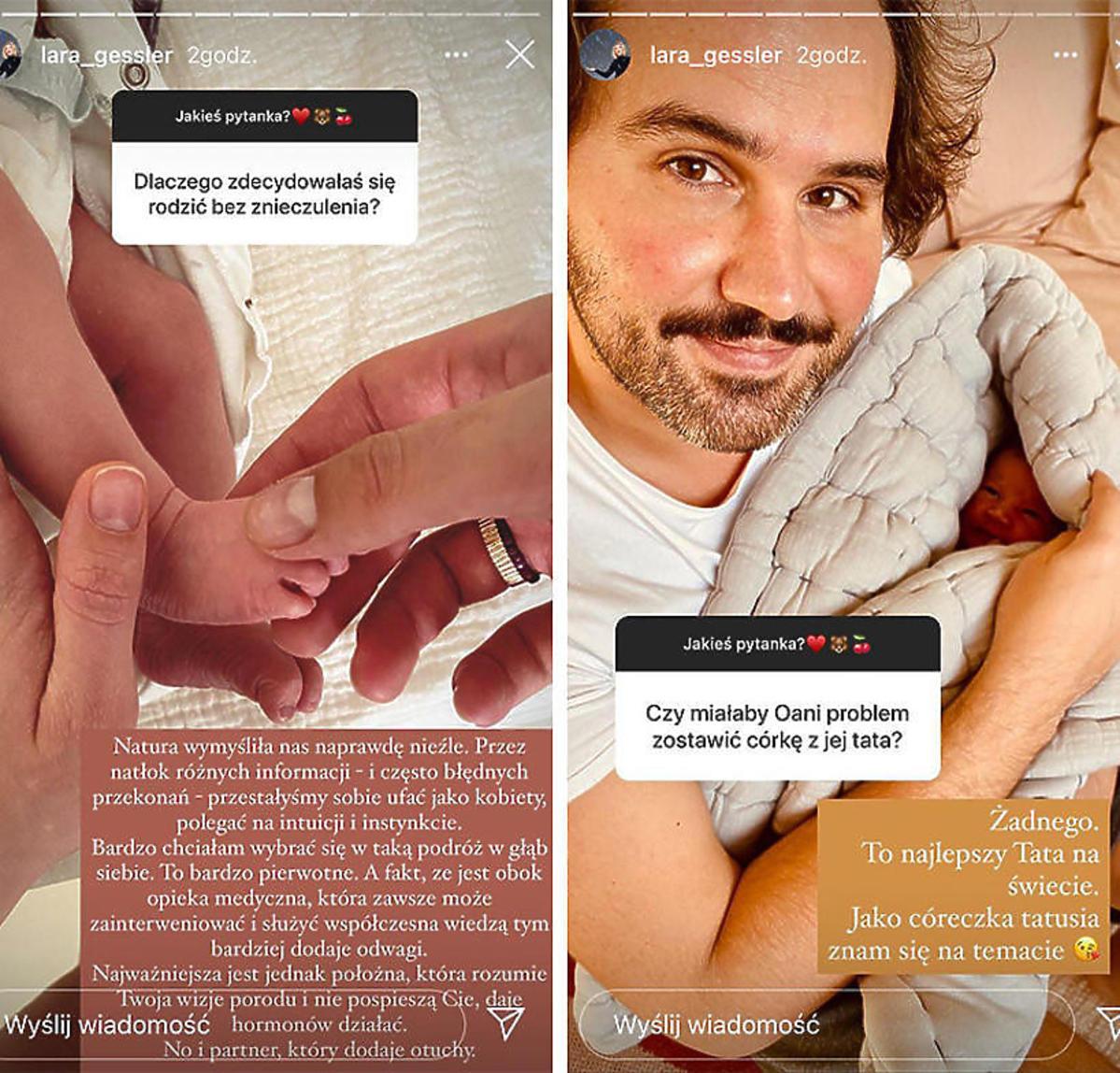 Lara Gessler - poród bez znieczulenia