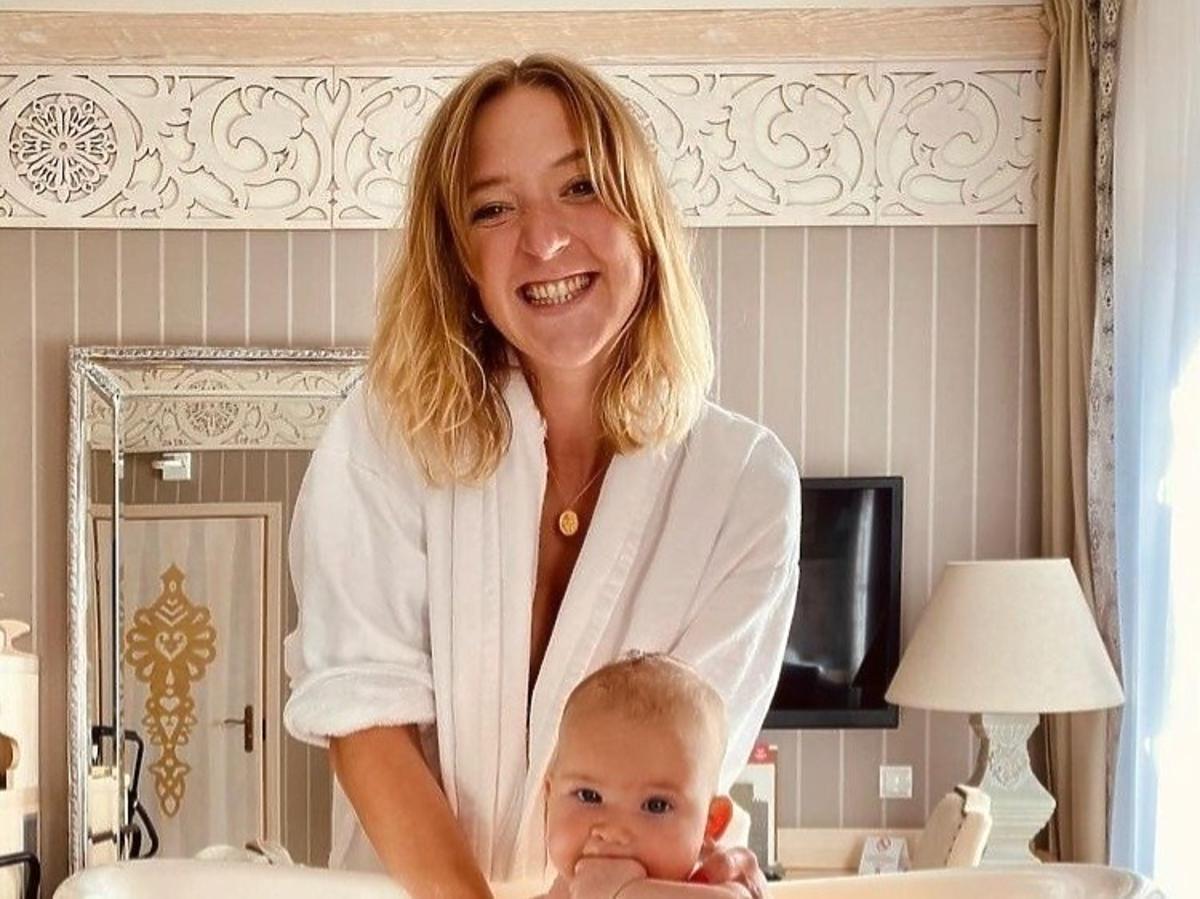 Lara Gessler z córką Neną