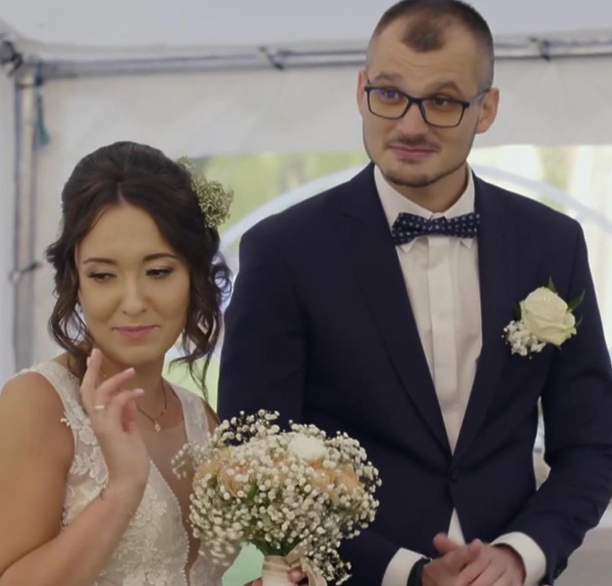 Laura i Maciej na weselu.